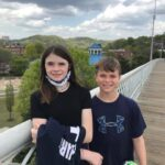 Jackson and family finished their Greyhound Gallop miles in downtown Chattanooga, TN at Coolidge Park and Pedestrian bridge over the Tennessee River. Great job!! 🙌