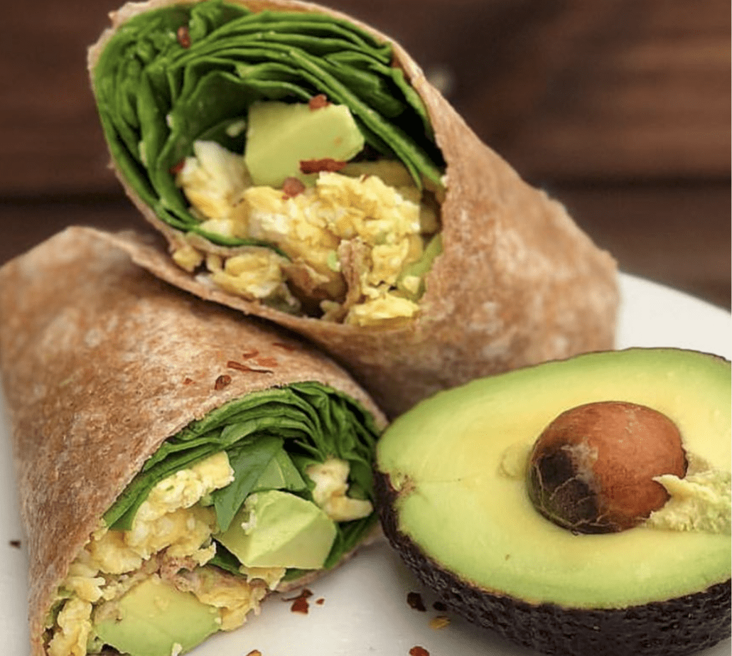 breakfast burrito avocado eggs