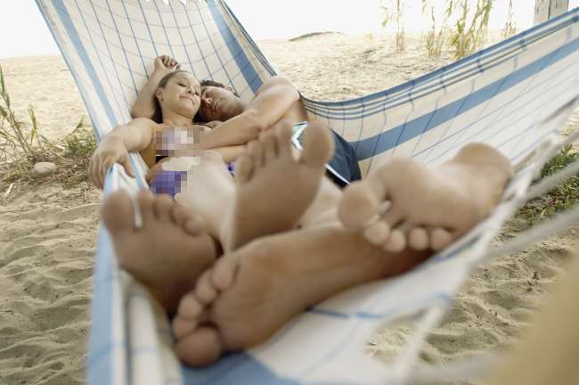 Naked Neighbors In A Hammock