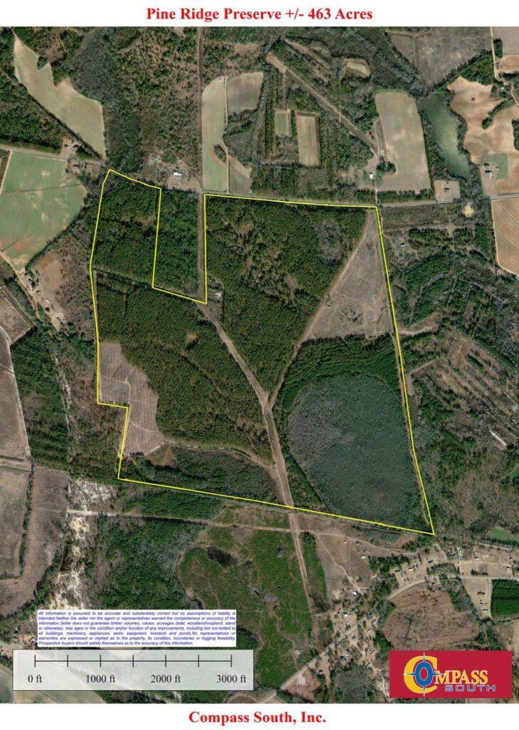 Pine Ridge Aerial Map