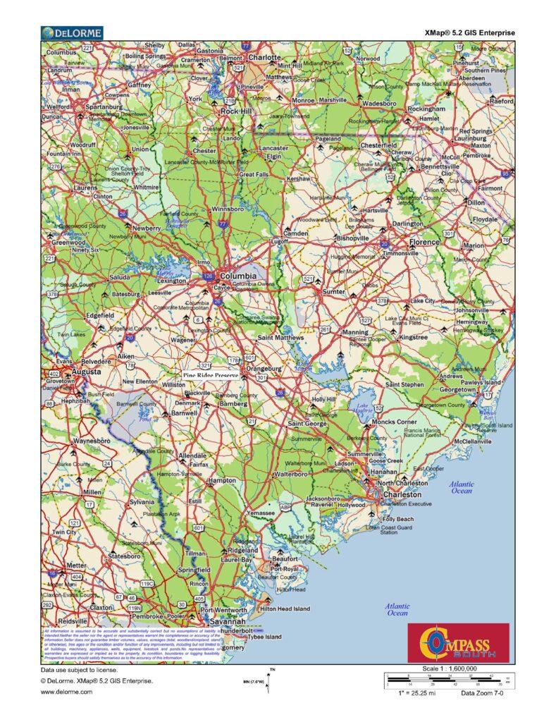 Pine Ridge Location Map
