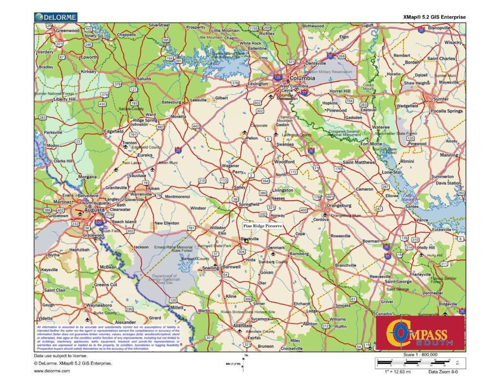 Pine Ridge Location Map2