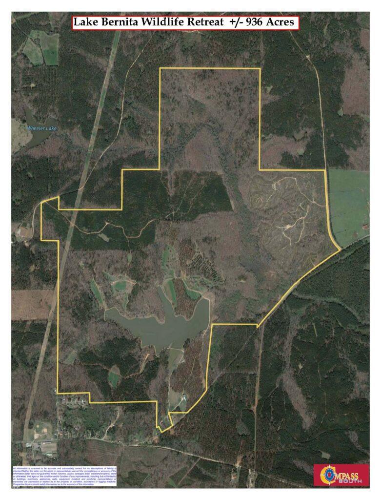 Lake Bernita Aerial Map