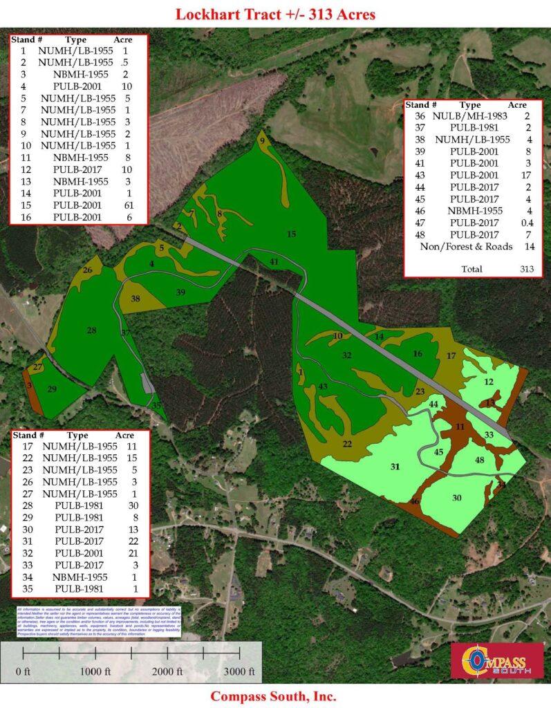 Lockhart Timber Map