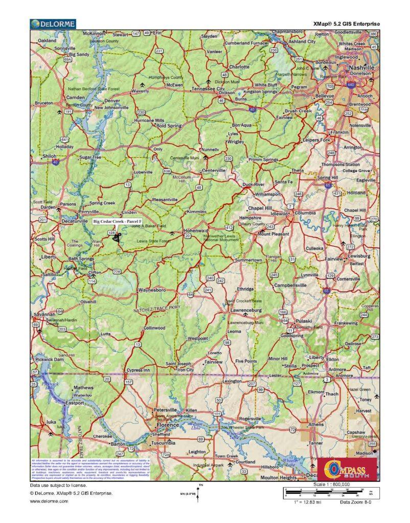 Buffalo River Location Map
