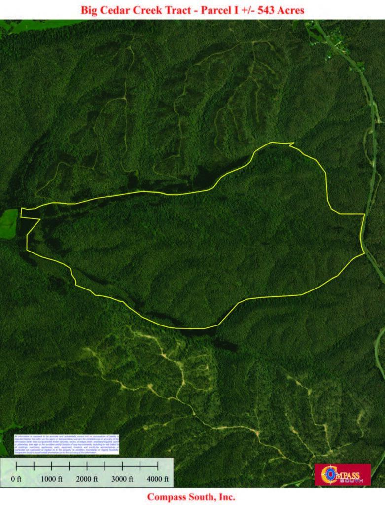 Buffalo River I Aerial Map