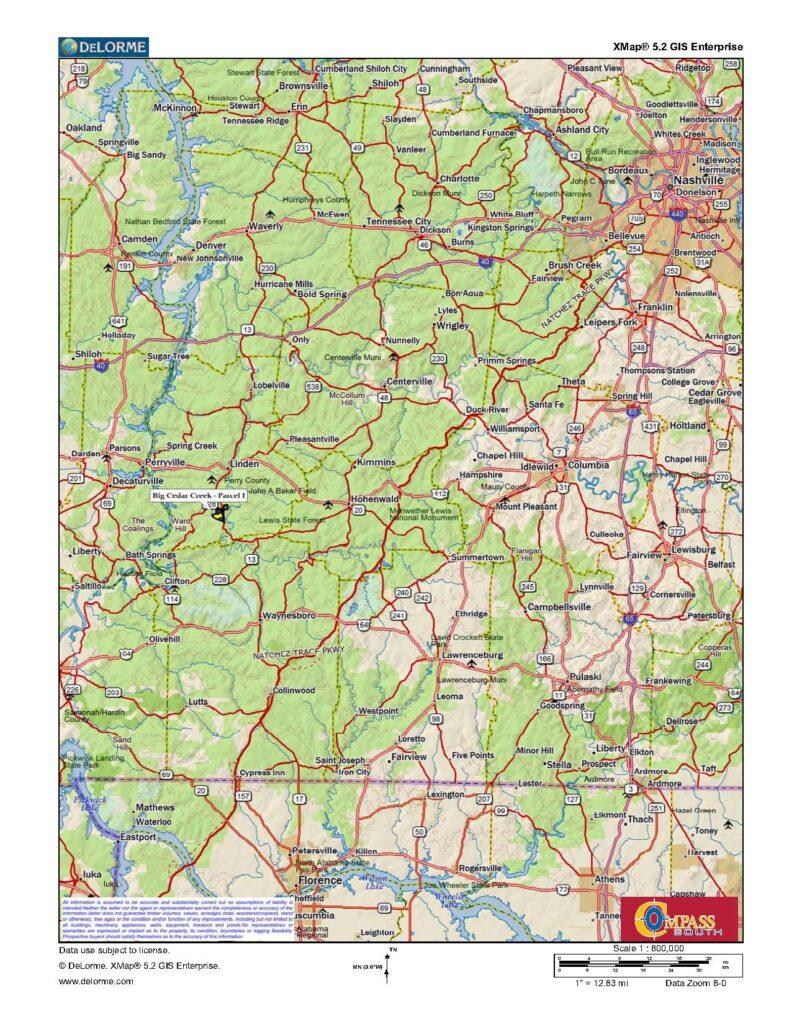 Buffalo River I Location Map