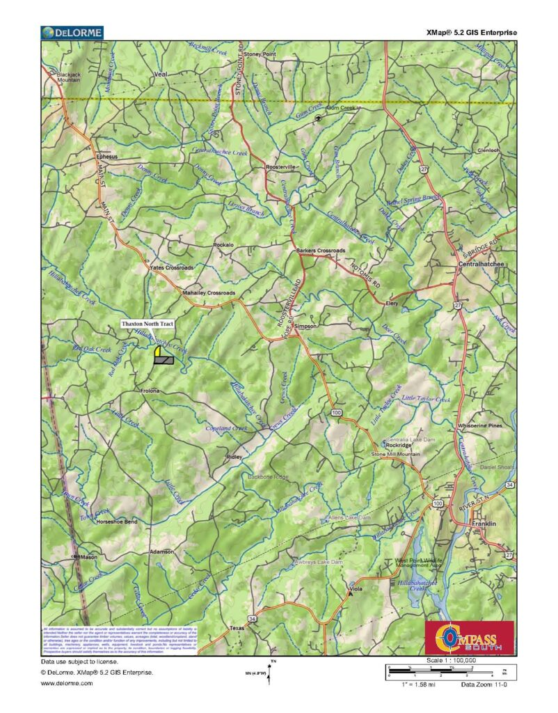 Thaxton North Location Map
