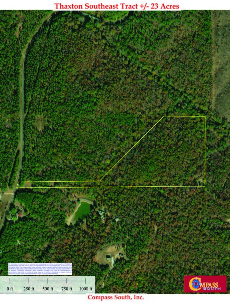 Thaxton Southeast Aerial Map