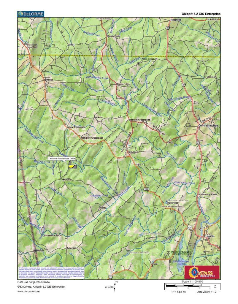 Thaxton Southwest Location Map