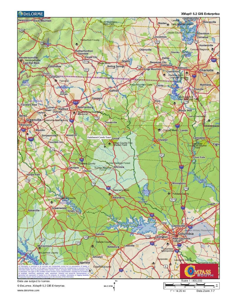 Fairforest Location Map