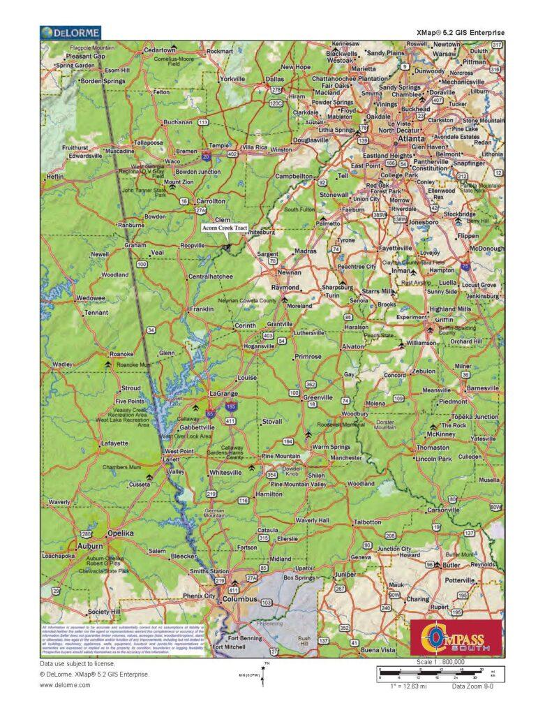 Acorn Creek Location Map 1