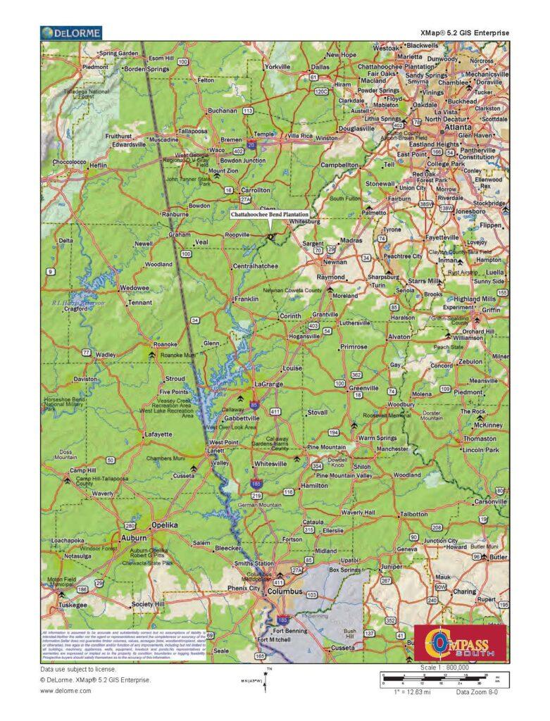 Chattahoochee Bend Plantation Location Map 1