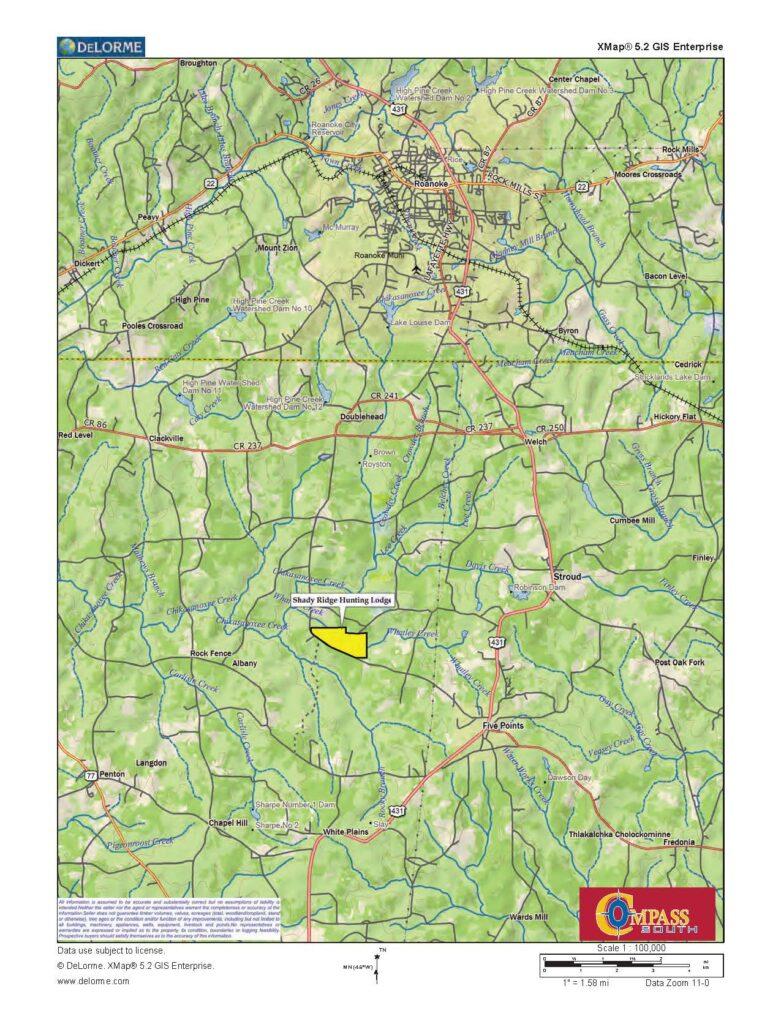 Shady Ridge Location Map 2