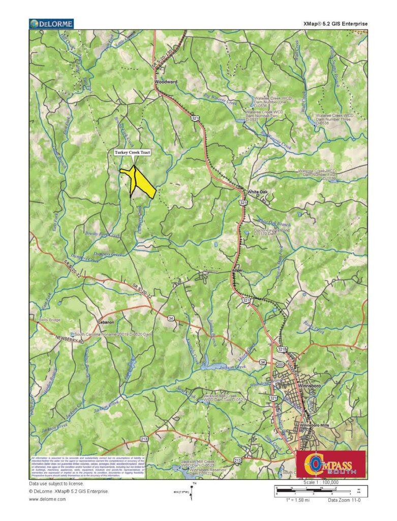 Turkey Creek Location Map