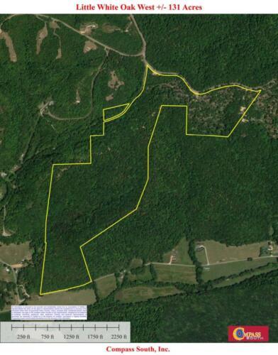 Little White Oak West Aerial Map