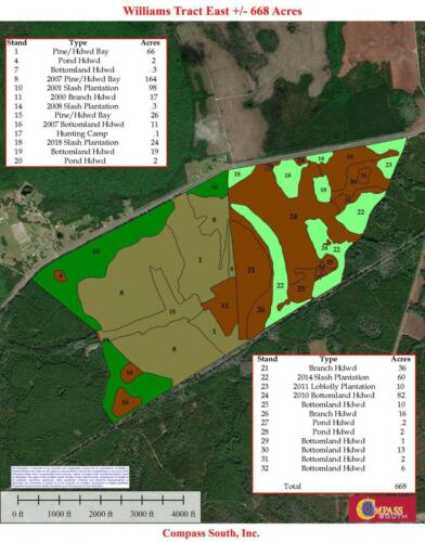 Williams Tract East Type Map 8-14-20