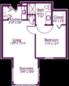 EastView Floor Plan E1