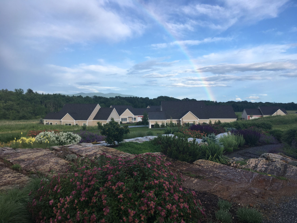 Rainbow-over-cottages