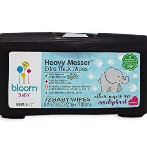 bloom BABY Heavy Messer Baby Wipes Tub – 72 Count