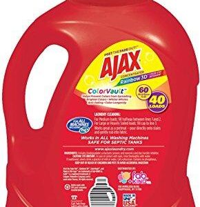 Ajax Laundry Rainbow 3D Color Vault Liquid Laundry Detergent, 60 Fluid Ounce