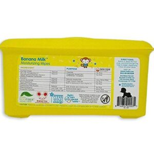 bloom BABY Banana Milk Sensitive Skin Baby Wipes Tub – 80 Count