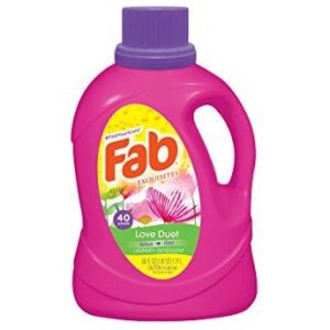 Fab Love Duet Liquid Laundry Detergent, 60 Fluid Ounce