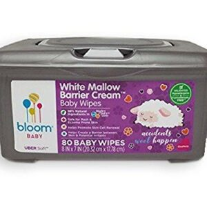 bloom BABY White Mallow Baby Wipes Tub (80 Count)