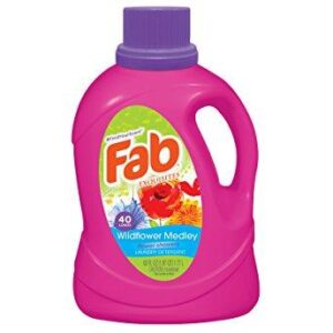 Fab Wild Flower Medley Liquid Laundry Detergent, 60 Fluid Ounce