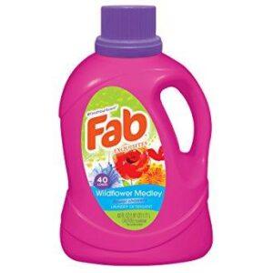 Fab Wild Flower Medley Liquid Laundry Detergent, 60 Fluid Ounce