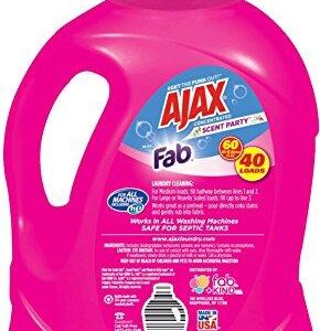 Ajax Laundry Scent Party Liquid Laundry Detergent, 60 Fluid Ounce