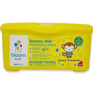 bloom BABY Banana Milk Sensitive Skin Baby Wipes Tub – 80 Count