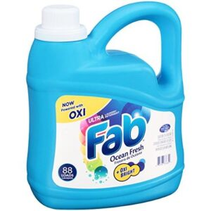 Fab Ocean Fresh Liquid Laundry Detergent (134oz)