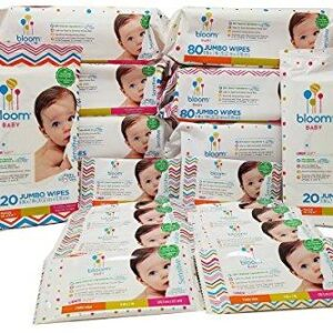 Bloom Baby Sensitive Skin Unscented Hypoallergenic Baby Wipes Mega Value Bulk Box – 690 Count