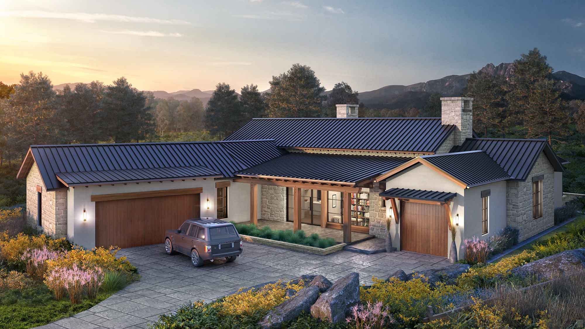 Exterior rendering of a home at The Summit
