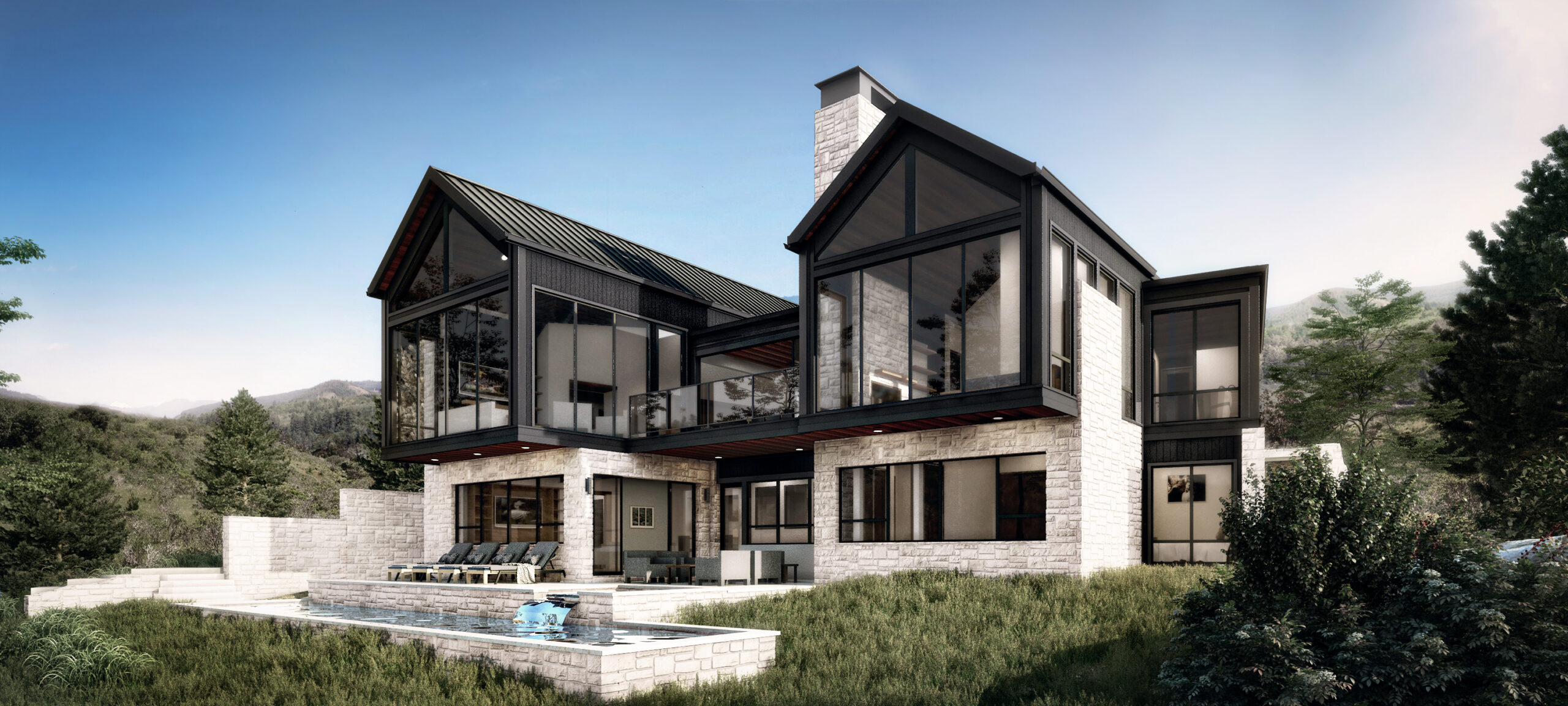 Exterior rendering of the home