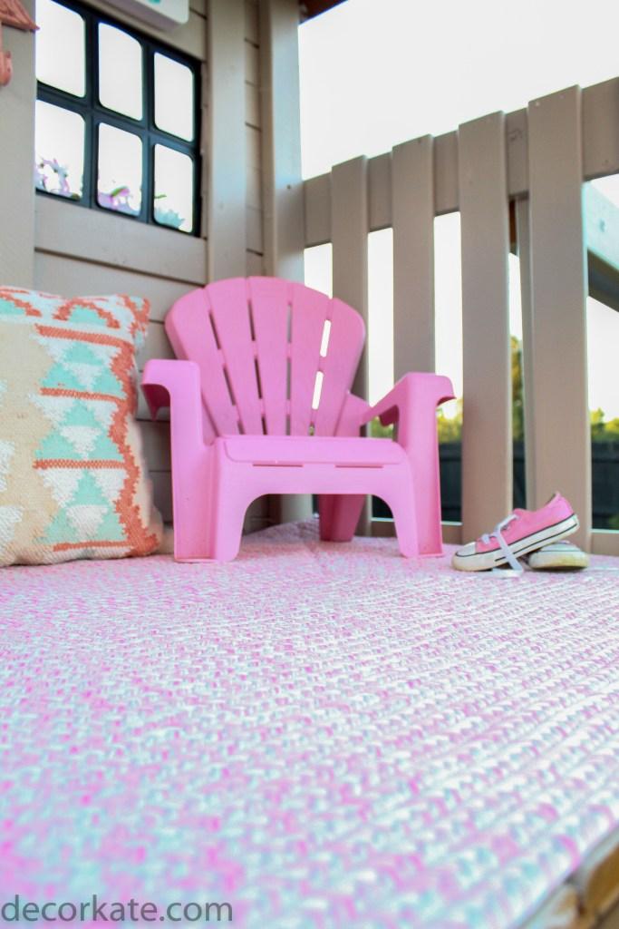 Rug in playhouse