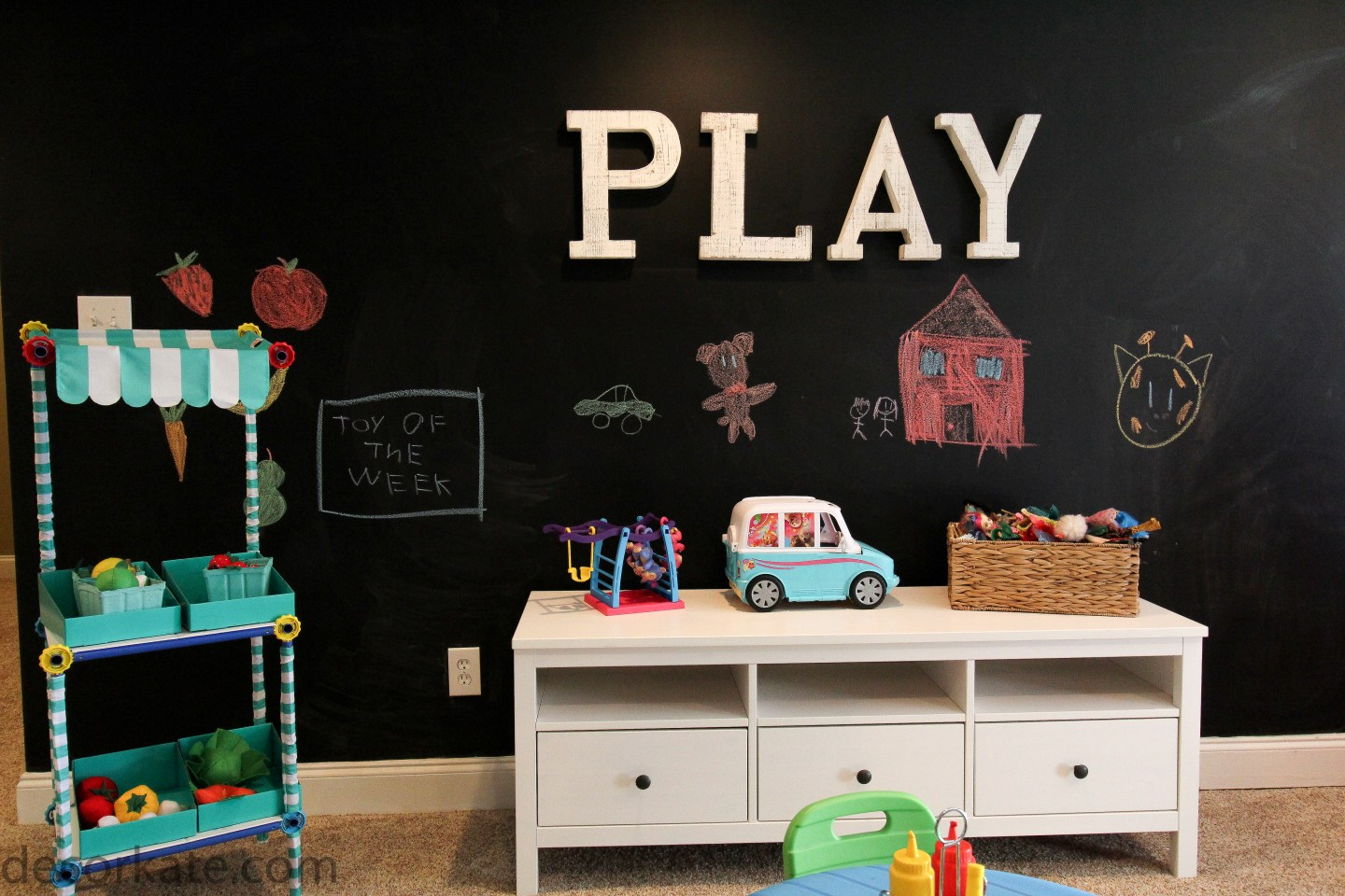 Playroom Chalkpaint Wall