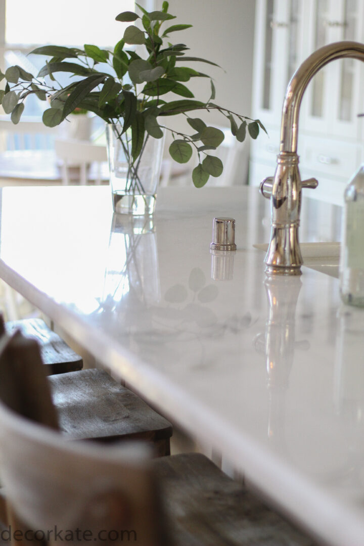 close up countertop