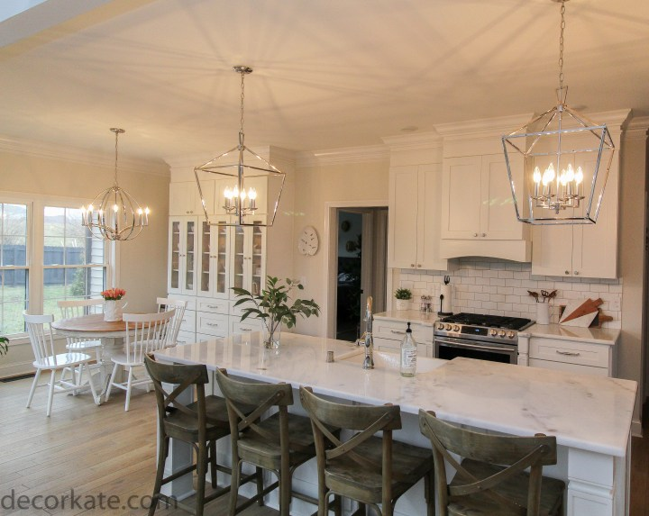 new lighting in kitchen over island