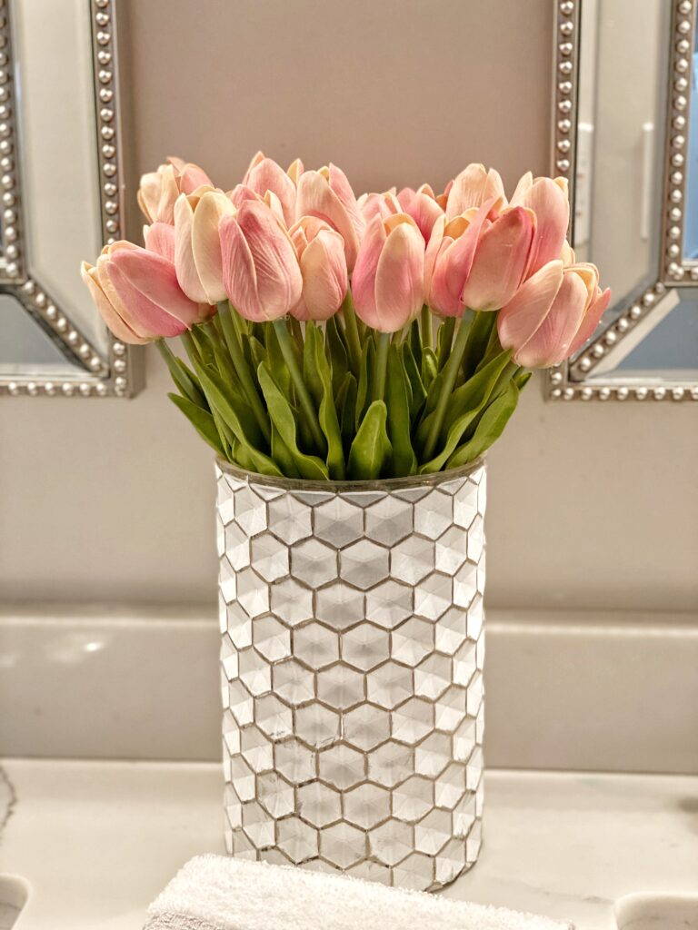 Pink Tulips that look real and a favorite amazon find