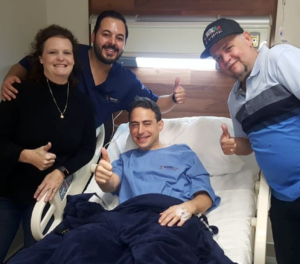 Alex Brecher about to enter surgery at BariatricPal Hospital MX