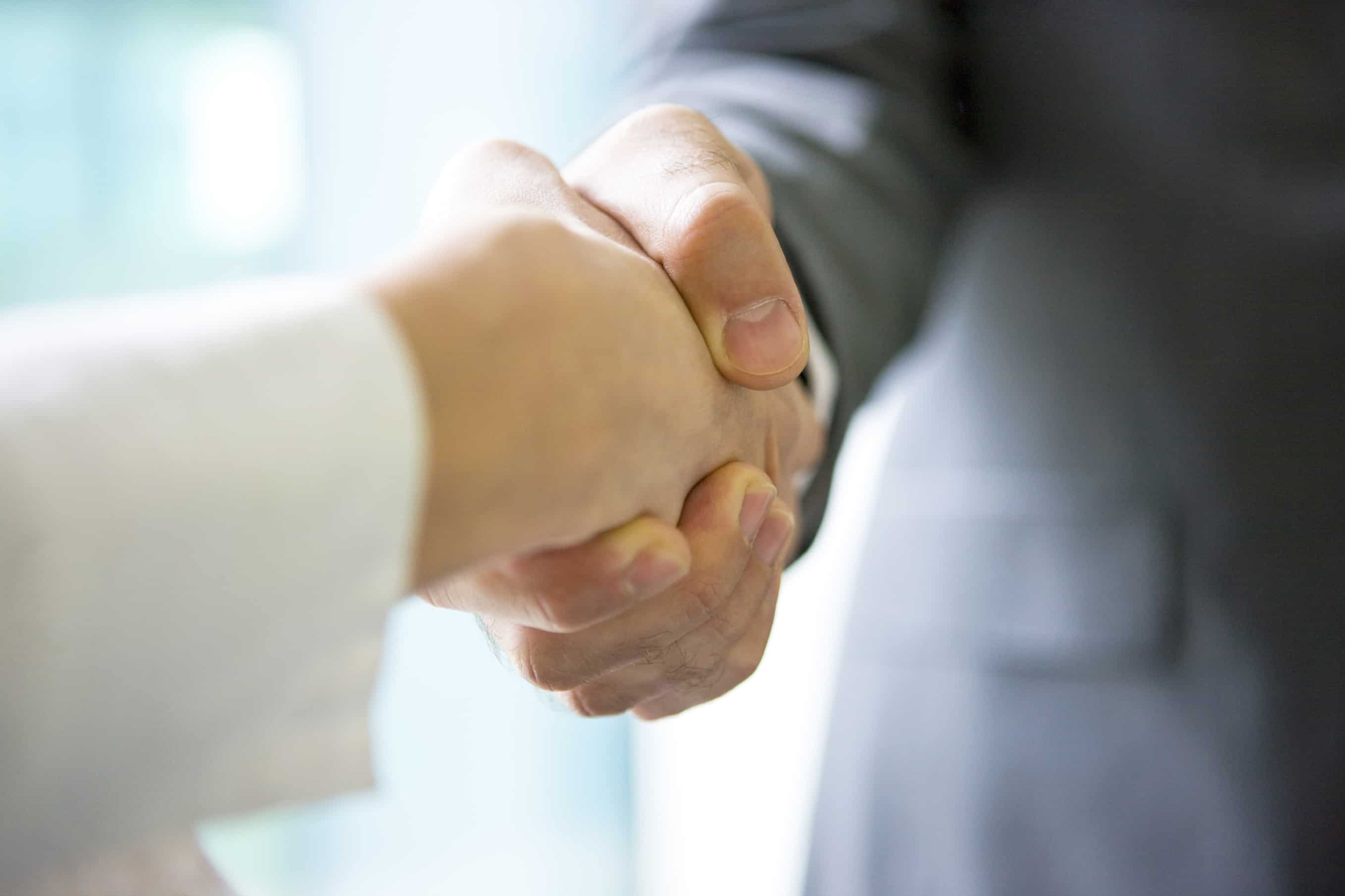commercial real estate broker handshake