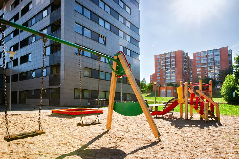 Make your multifamily property investment appealing, with a park or some other family oriented amenity.