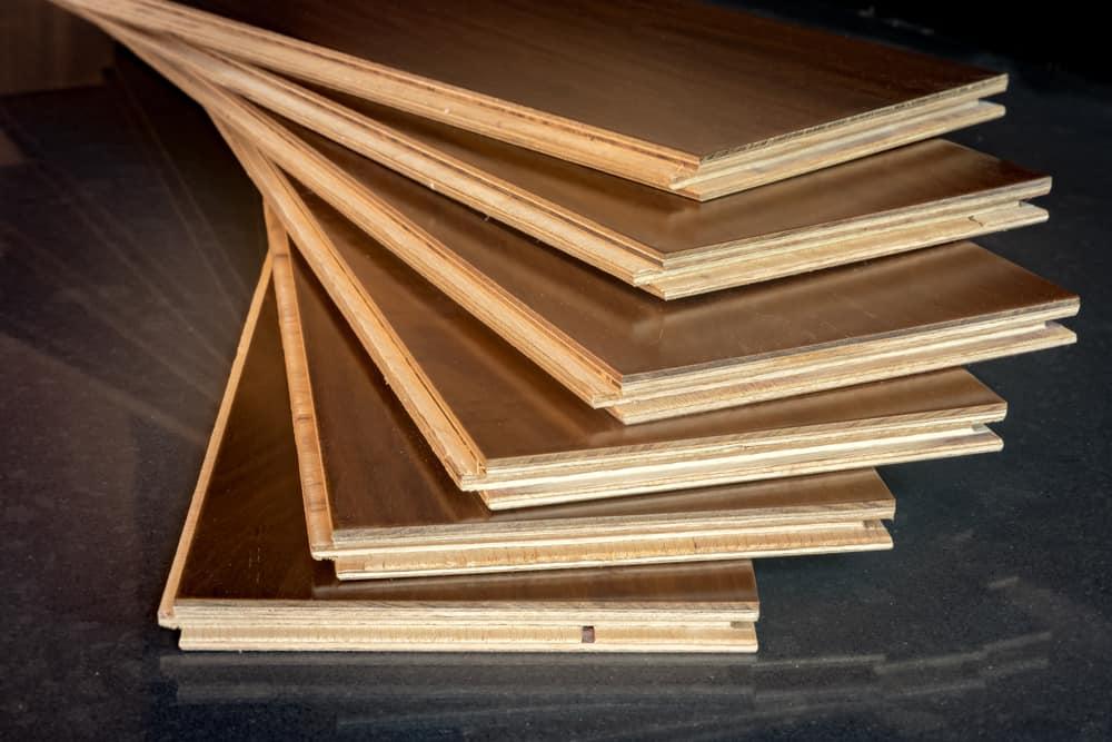 engineered wood flooring in office space