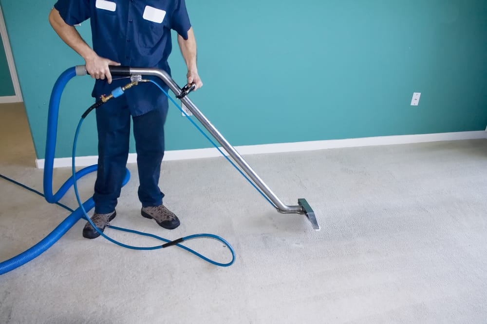 Deep cleaning office space
