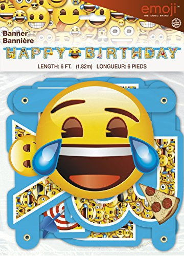 6ft Emoji Birthday Banner