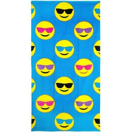 Emoji Beach Towel, Cool Guy