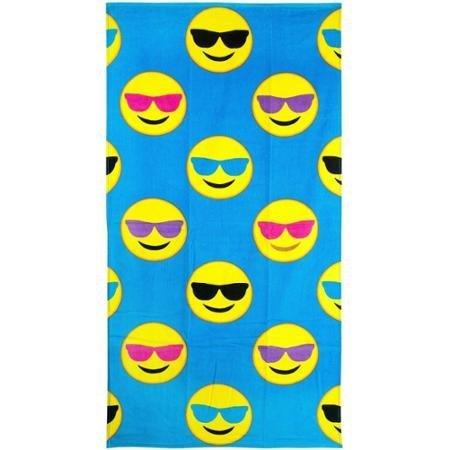 Emoji Beach Towel, Cool Guy