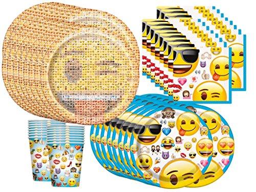 Emoji Birthday Party Supplies Bundle Pack for 16